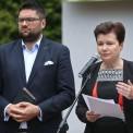 Jarosław Jóźwiak, były wiceprezydent Warszawy i Hanna Gronkiewicz-Waltz.  Fot. Rafał Guz/PAP