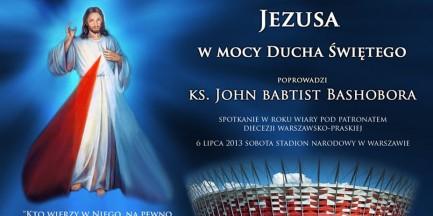 """""""Jezus na Stadionie"""" - ksiądz z Ugandy uzdrawia na Narodowym"""