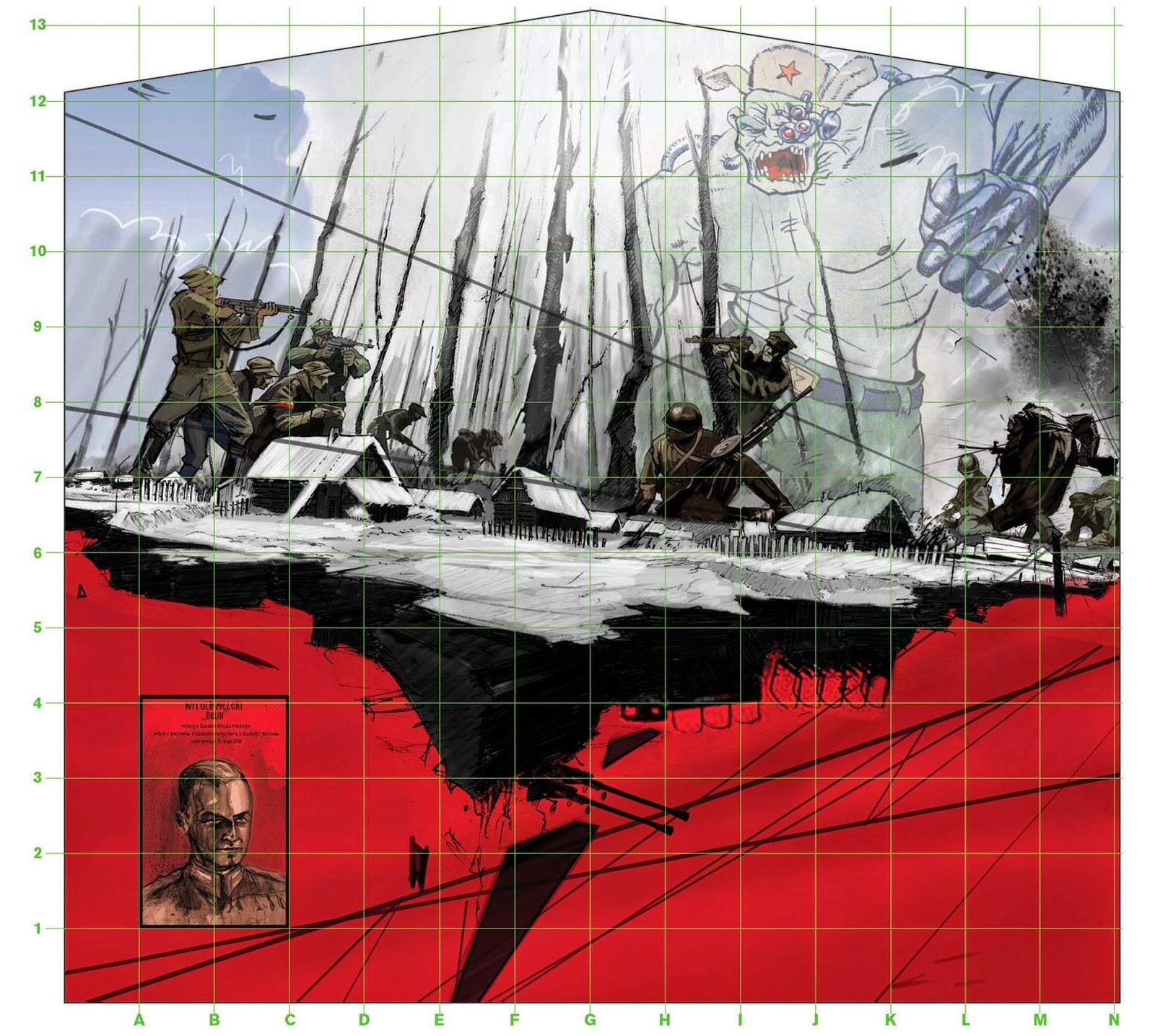 Na ursynowie powstaje mural po wi cony pileckiemu i for Mural ursynow