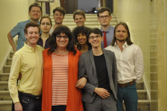 Michał Fijka (pierwszy z lewej, na górze) podczas wycieczki o tematyce LGTB zorganizowanej dla niemieckich naukowców.