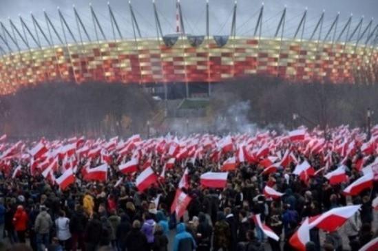 Kolejne warszawskie obchody Święta Niepodległości Fot. PAP/Marcin Obara