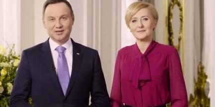 Życzenia od pary prezydenckiej [WIDEO]
