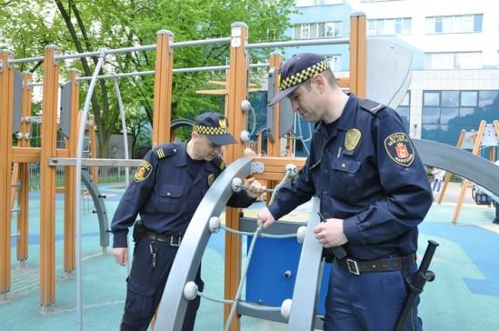 Strażnicy podczas kontroli. Fot. SM
