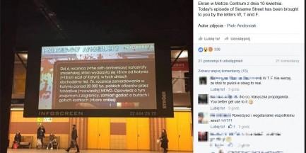 """""""Patriotyczna"""" lekcja angielskiego na ekranach w metrze"""