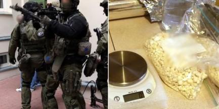 """Policja zlikwidowała wytwórnię narkotyków. """"7 kg sypkiej amfetaminy"""" [WIDEO]"""