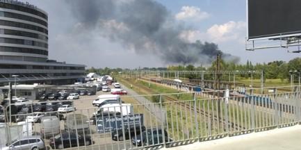 Potężny pożar na Woli