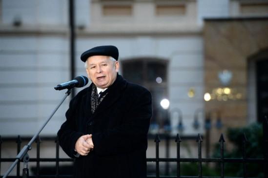 Jarosław Kaczyński podczas miesięcznicy. Fot. PAP/Jacek Turczyk