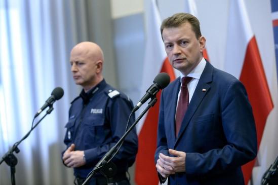 Szef MSWiA Mariusz Błaszczak. Fot. Paweł Supernak/PAP
