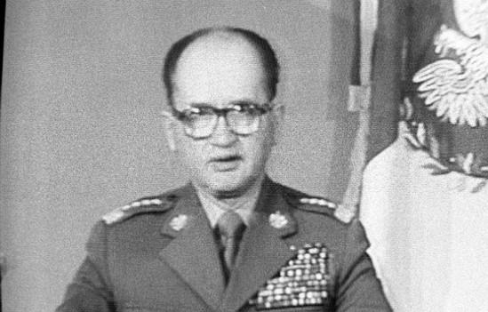 Gen. Jaruzelski ogłasza wprowadzenie stanu wojennego Fot. PAP / Leszek Jerzy Pękalski