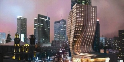 Zakręcony wieżowiec stanie w miejsce Teatru Żydowskiego?