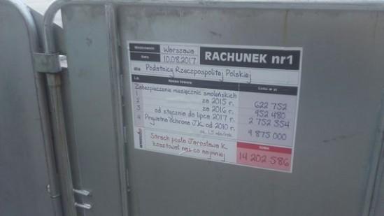 Rachunek dla J. Kaczyńskiego Fot. WawaLove.pl