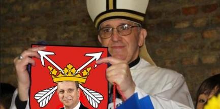 Radni Łomianek zapraszają papieża, internauci mają niezły ubaw