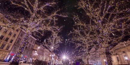 Christmas Greetings Warsaw 2015 [WIDEO Time Lapse 4K]
