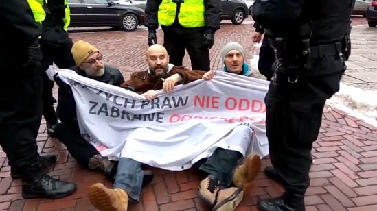 Protest Obywateli RP. Fot. FB/Obywatele RP