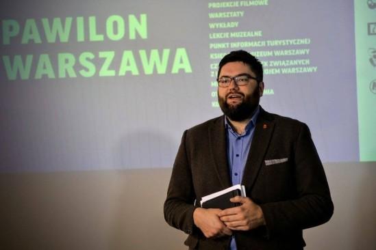 Jarosław Jóźwiak wiceprezydent Warszawy Fot. Pawilon Warszawa FB